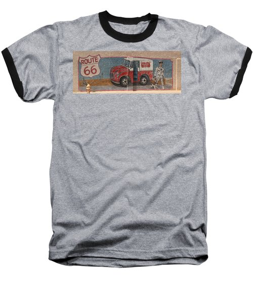 Mural On Historic Route 66 Baseball T-Shirt
