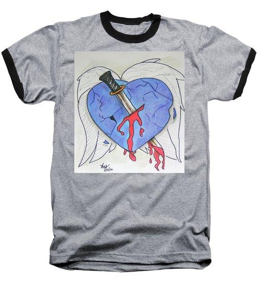Murdered Soul Baseball T-Shirt by Loretta Nash