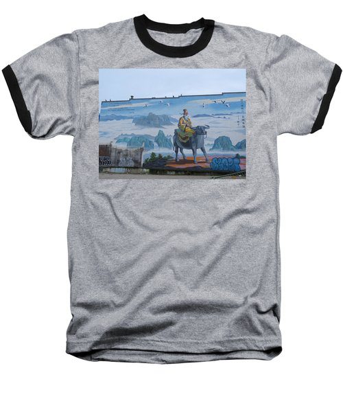 Mural In Chinatown Vancouver Baseball T-Shirt