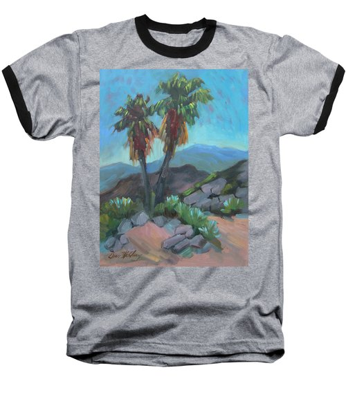 Baseball T-Shirt featuring the painting Murray Trail Andreas Canyon by Diane McClary