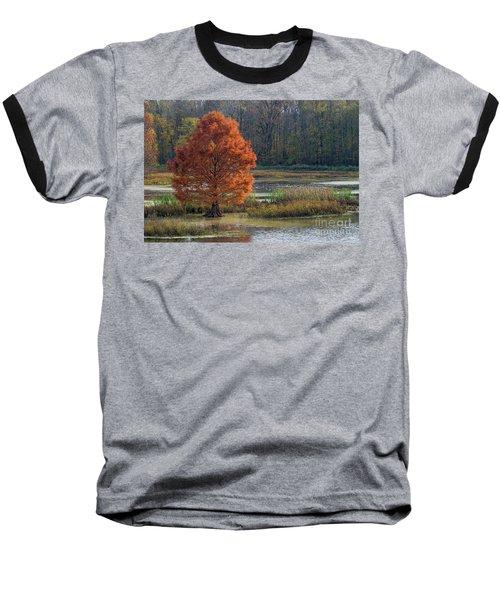 Baseball T-Shirt featuring the photograph Muscatatuck - D009967 by Daniel Dempster