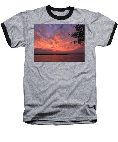 Muscongus Sound Sunrise Baseball T-Shirt