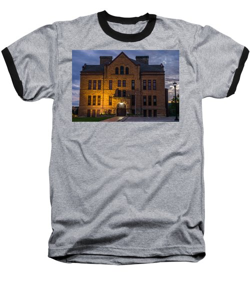 Museum Baseball T-Shirt by Jerry Cahill