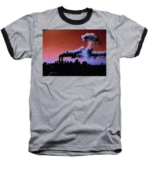 Mushroom Cloud From Flight 175 Baseball T-Shirt by James Kosior