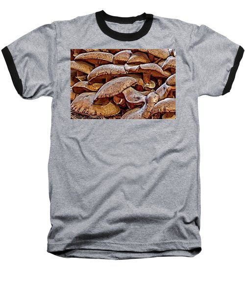 Baseball T-Shirt featuring the photograph Mushroom Colony by Bill Gallagher