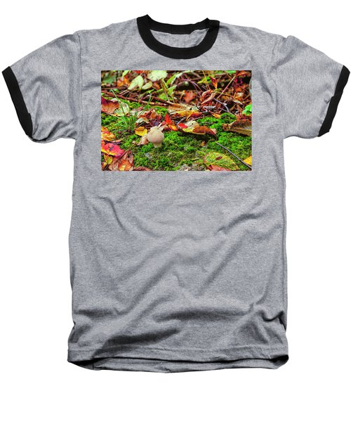 Mushroom Baseball T-Shirt by David Cote