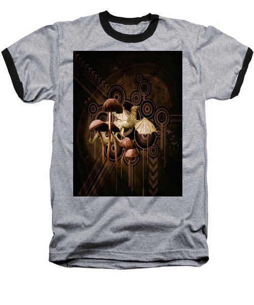 Mushroom Dragon Baseball T-Shirt