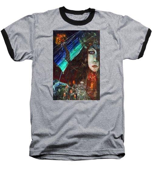 Mushroom Girl Baseball T-Shirt by Mikhail Savchenko
