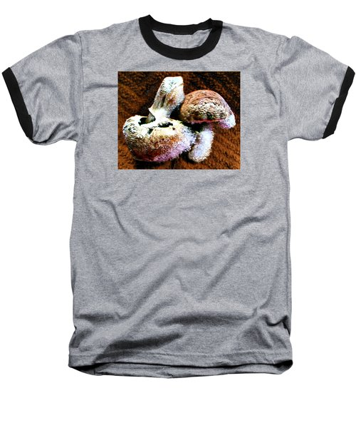 Baseball T-Shirt featuring the photograph Mushroom Love by Steve Sperry
