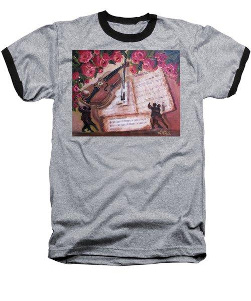 Music And Roses Baseball T-Shirt
