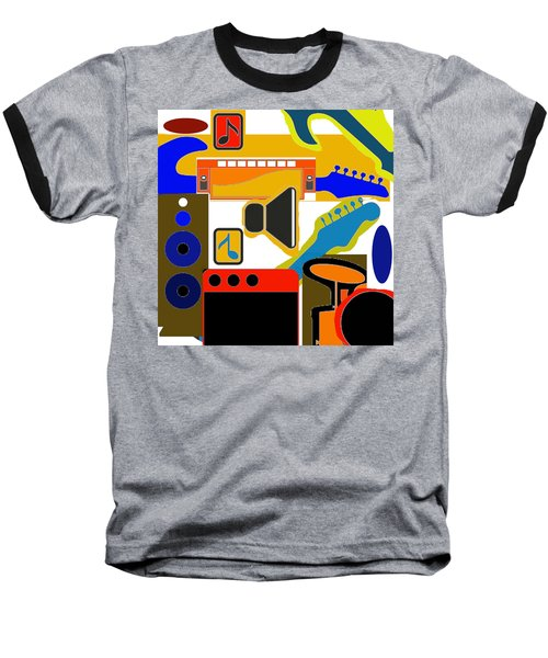 Music Collage Baseball T-Shirt
