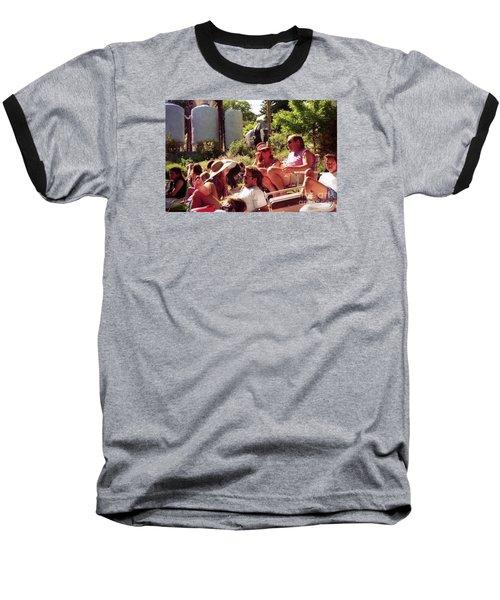 Music Fans Rest On The Grass Baseball T-Shirt
