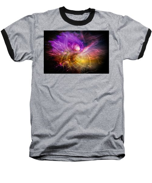 Baseball T-Shirt featuring the digital art Music From Heaven by Carolyn Marshall