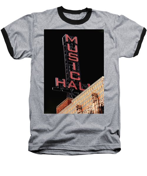 Music Hall Sign Baseball T-Shirt