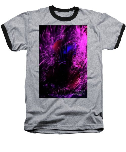 Music Light Painting  Baseball T-Shirt