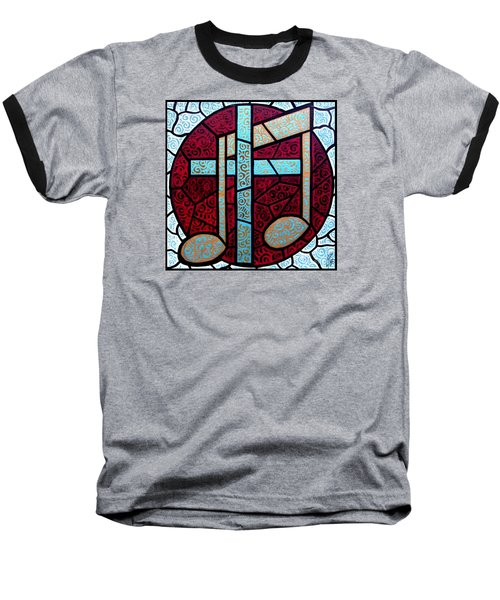 Baseball T-Shirt featuring the painting Music Of The Cross by Jim Harris