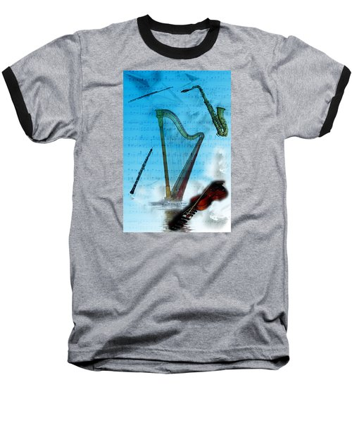 Musical Instruments Baseball T-Shirt by Angel Jesus De la Fuente