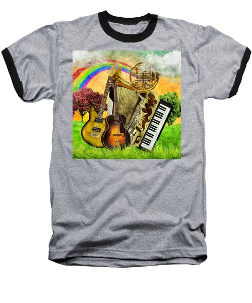 Musical Wonderland Baseball T-Shirt by Ally White