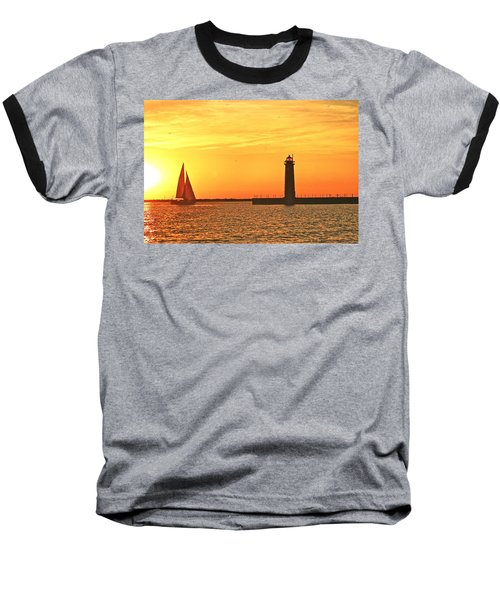 Muskegon Sunset Baseball T-Shirt
