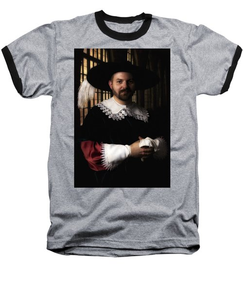 Musketeer In The Old Castle Hall Baseball T-Shirt