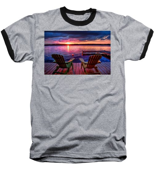 Muskoka Chair Sunset Baseball T-Shirt