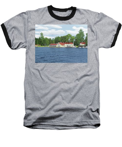Baseball T-Shirt featuring the painting Muskoka Lakes Golf And Country Club by Kenneth M Kirsch