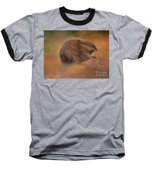 Muskrat Snack Baseball T-Shirt