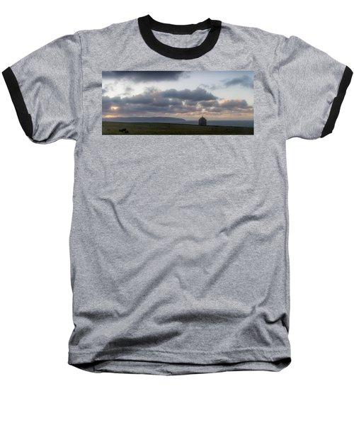 Musseden Temple Sunset Baseball T-Shirt