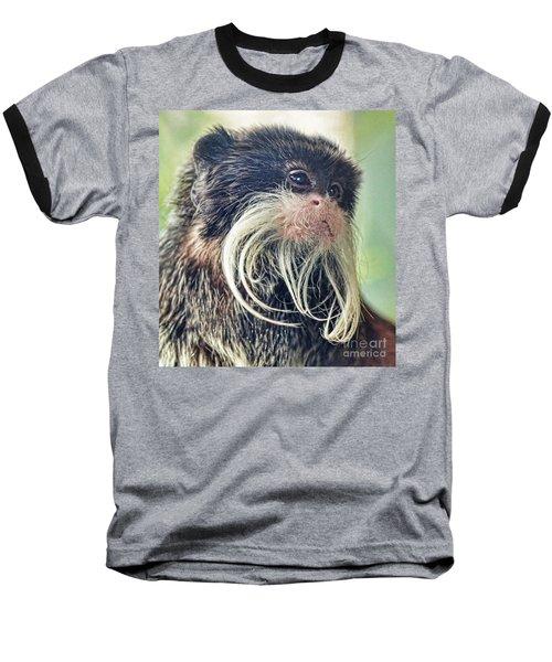 Mustache Monkey Watching His Friends At Play Baseball T-Shirt by Jim Fitzpatrick