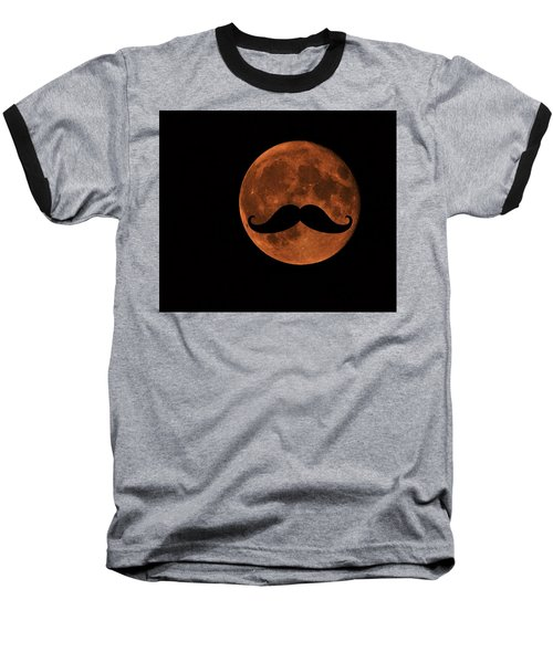 Mustache Moon Baseball T-Shirt