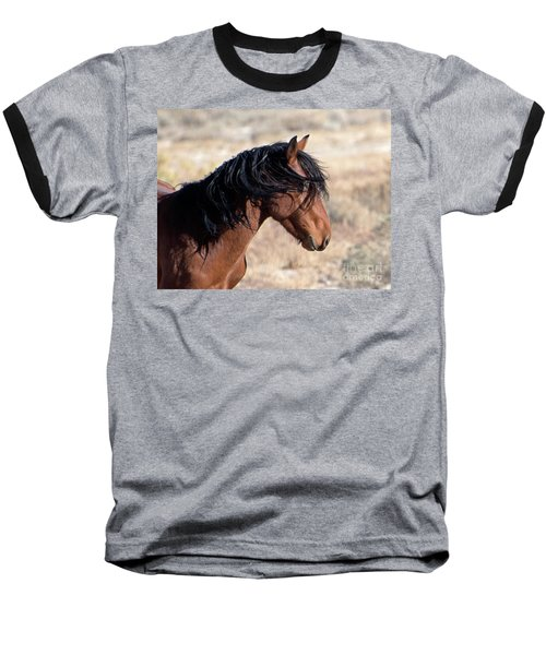 Mustang Baseball T-Shirt by Lula Adams