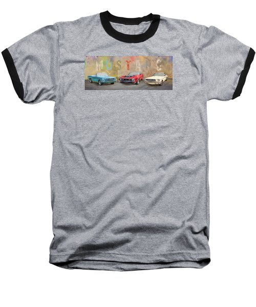 Mustang Panorama Painting Baseball T-Shirt