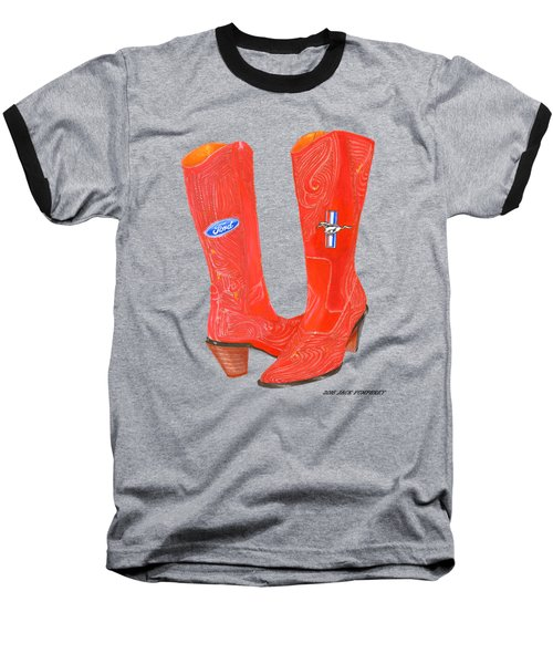 Mustang Sally Kick Ass Boots Baseball T-Shirt
