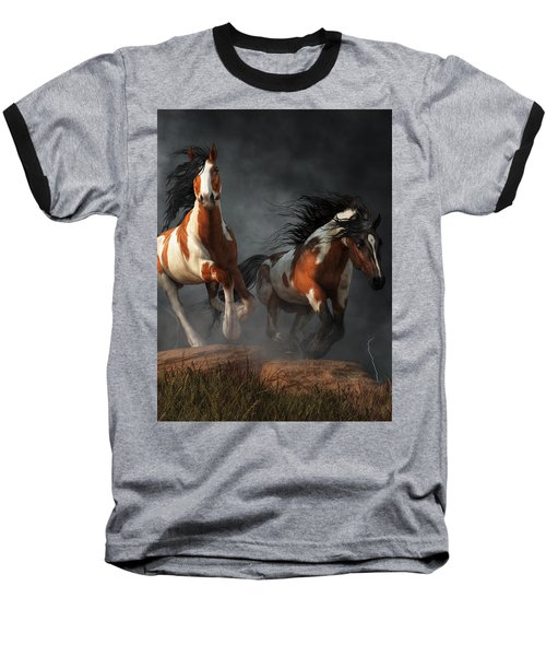 Mustangs Of The Storm Baseball T-Shirt