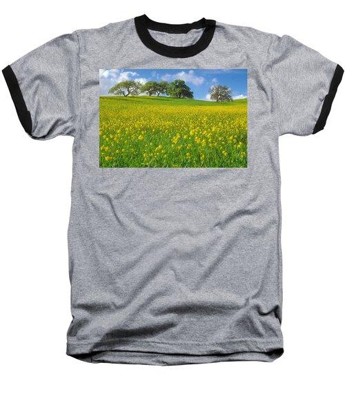 Baseball T-Shirt featuring the photograph Mustard Field by Mark Greenberg