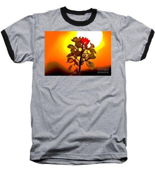 Mustard Sunset Baseball T-Shirt