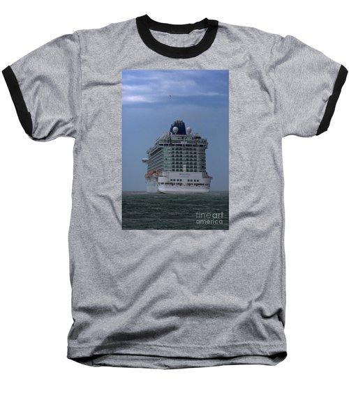 Mv Britannia 3 Baseball T-Shirt by David  Hollingworth