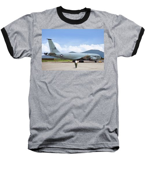 Baseball T-Shirt featuring the digital art My Baby Kc-135 by Peter Chilelli