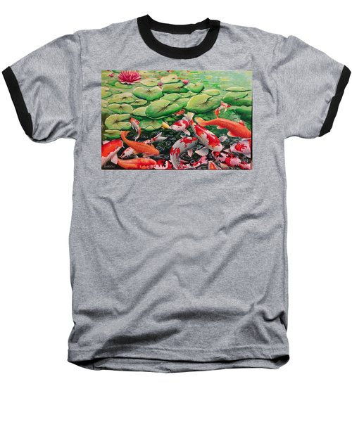 My Backyard Pond Baseball T-Shirt
