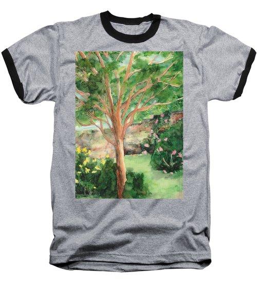 Baseball T-Shirt featuring the painting My Backyard by Vicki  Housel