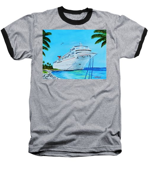 My Carnival Cruise Baseball T-Shirt by Lloyd Dobson