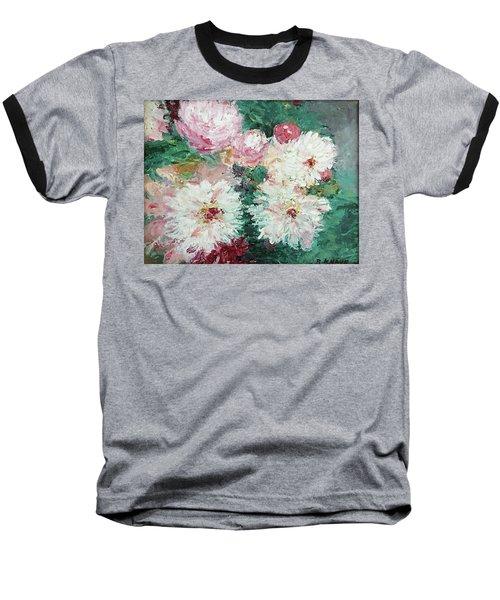 My Chrysanthemums Baseball T-Shirt by Barbara Anna Knauf