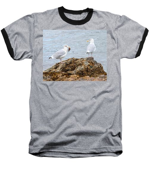 Baseball T-Shirt featuring the photograph My Crab Go Away by Debbie Stahre