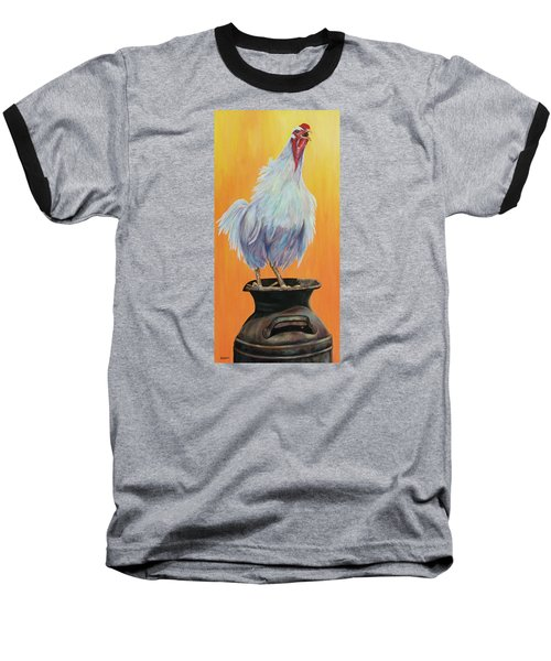 My Crazy Chicken Baseball T-Shirt by Susan DeLain