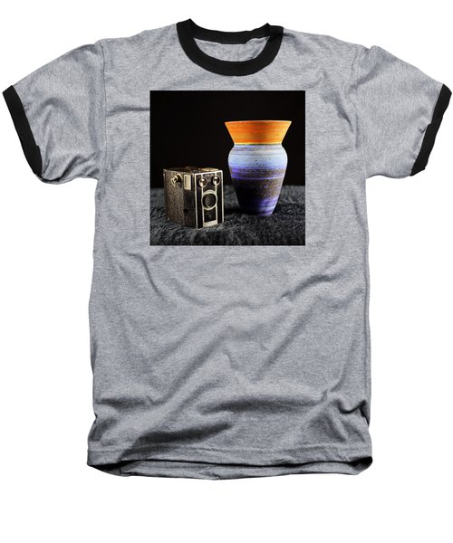 Baseball T-Shirt featuring the photograph My Dad's Camera by Jeremy Lavender Photography