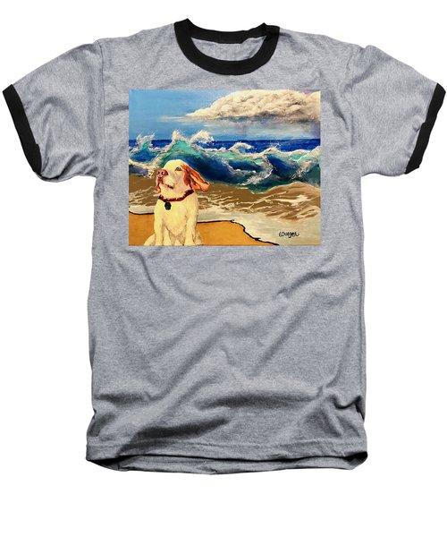 My Dog And The Sea #1 - Beagle Baseball T-Shirt