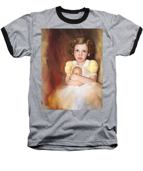 Baseball T-Shirt featuring the photograph My Dolly by Bonnie Willis