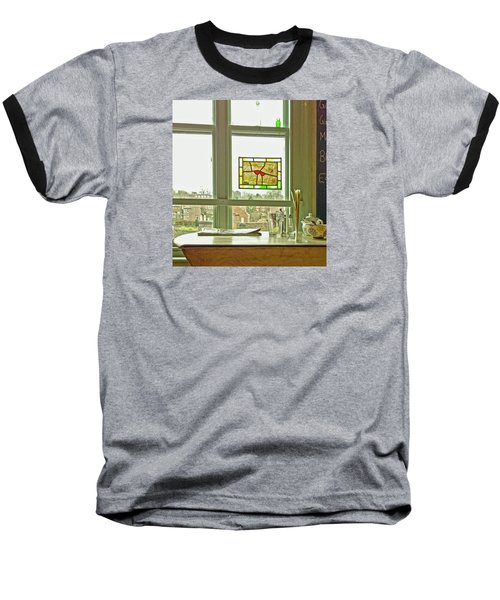 Baseball T-Shirt featuring the photograph My Favourite Cafe by Anne Kotan