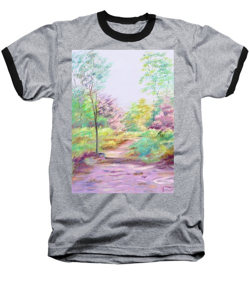Baseball T-Shirt featuring the painting My Favourite Place by Elizabeth Lock