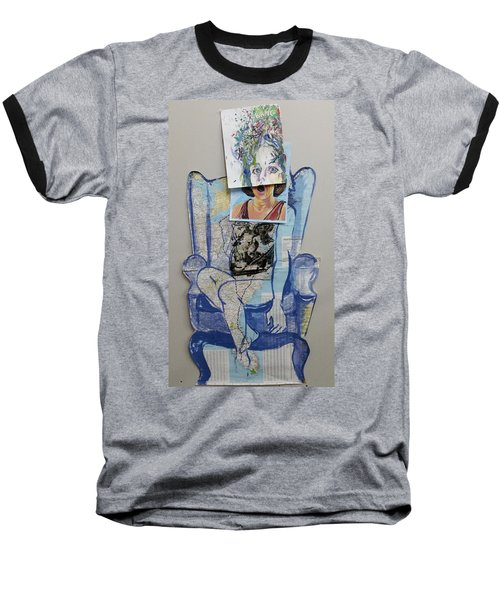 Baseball T-Shirt featuring the painting My Foot Is In Miami by Tilly Strauss